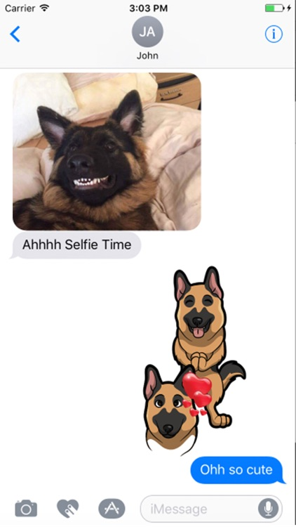 German shepherd Dog emojis