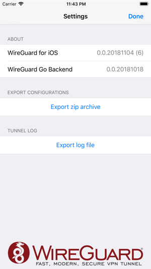 WireGuard on the App Store