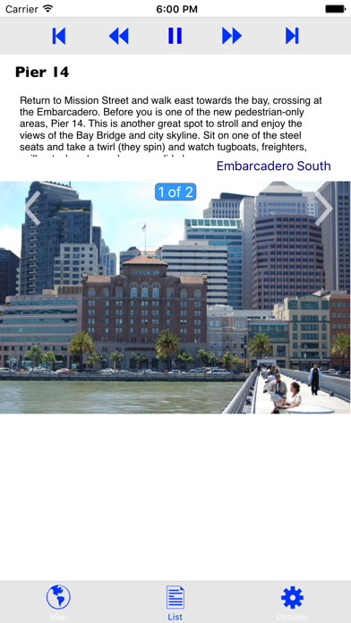 Embarcadero Guided Tour Screenshots