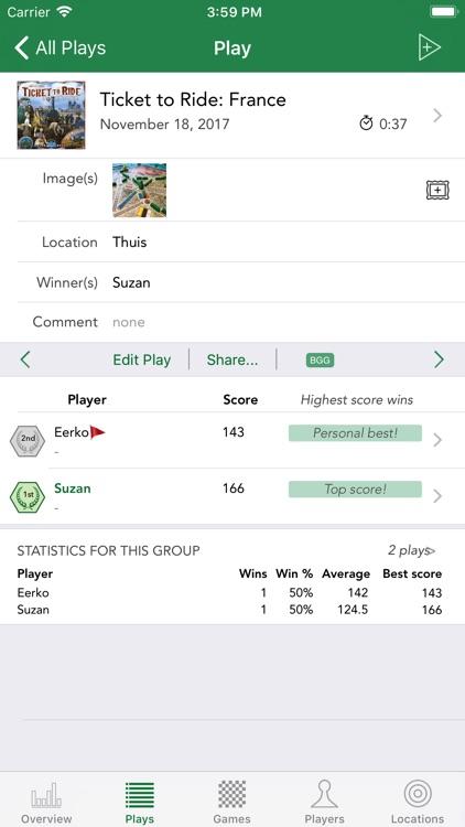 Board Game Stats screenshot-3
