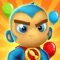 Endless legions of colorful bloons in outlandish shapes and patterns are invading Monkey Town and only Super Monkey can stop them