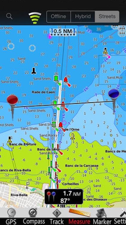 Lower Normandy Nautical Charts screenshot-3