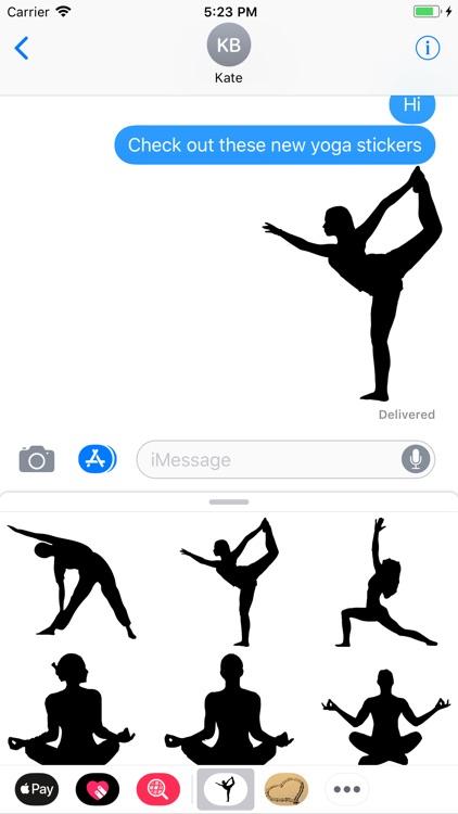 yoga pose stickers