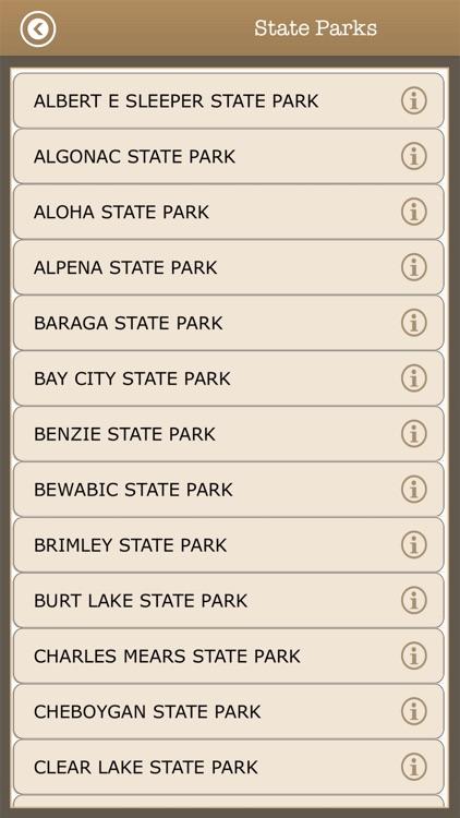 Michigan Camps & Trails,Parks screenshot-4