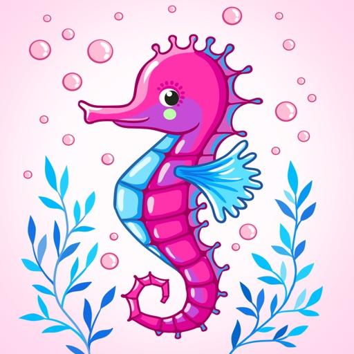 Bubble Seahorse Stickers