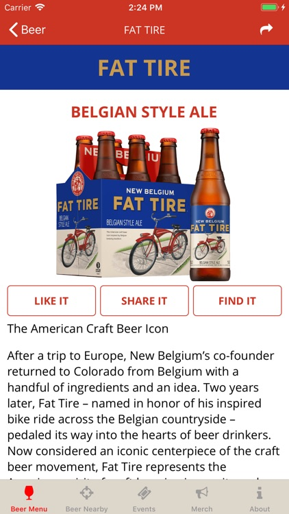 New Belgium Beer Mode