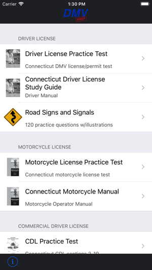 dmv drivers permit test ct
