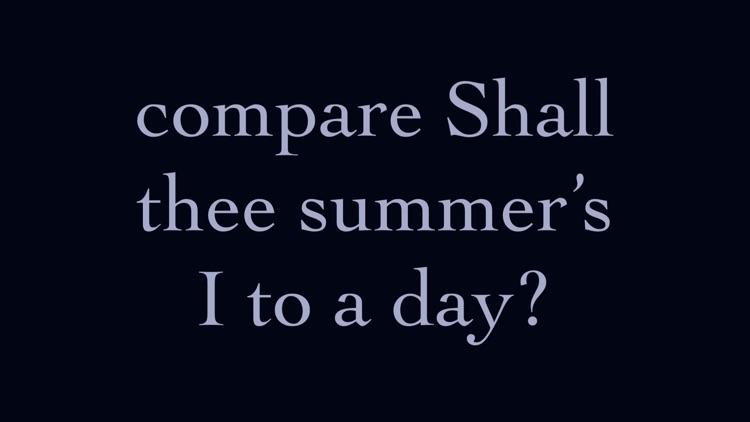 Shakespeare's Sonnets: