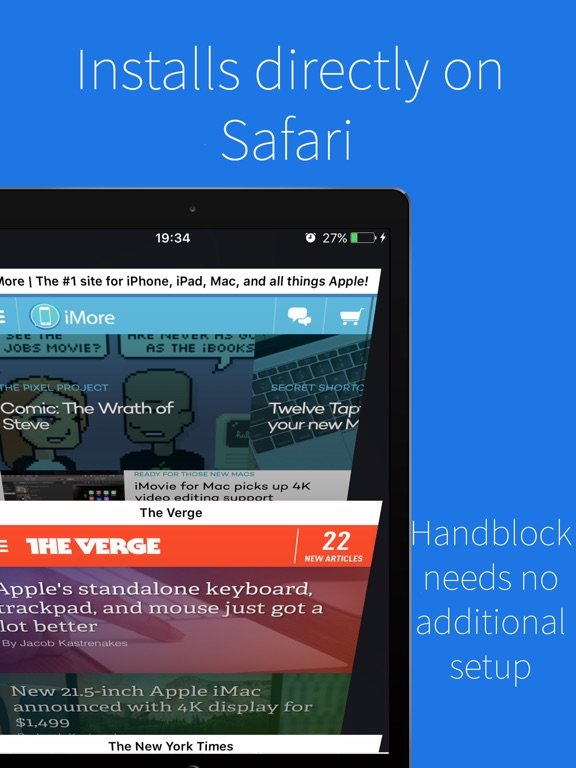 Handblock - Safari Adblocker Screenshots
