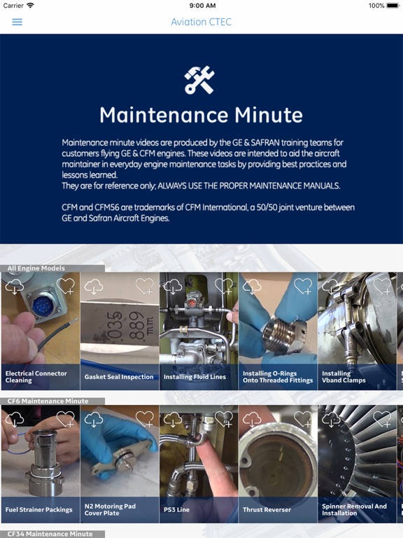 GE and CFM Maintenance Minute | App Price Drops