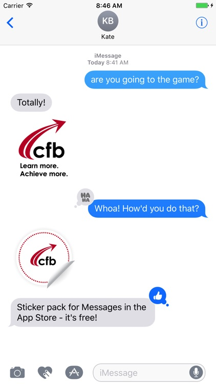 CFB Stickers for Messages