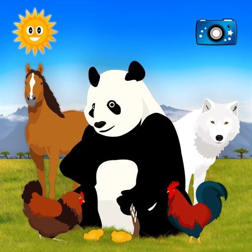 みんな見つけて:動物を探して
