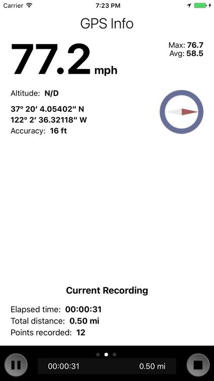 GPS Stone GPX Trip Recorder