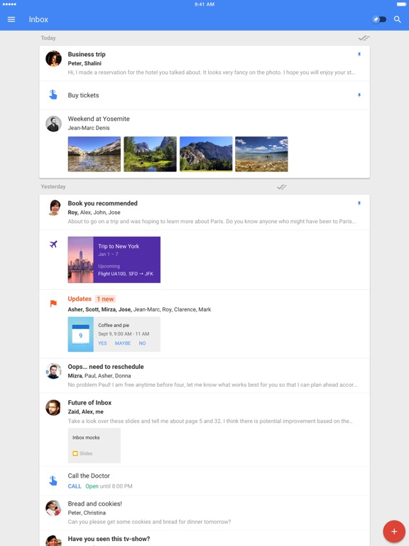 Inbox от Gmail Screenshot
