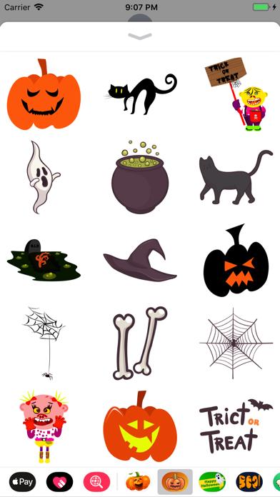 Happy Halloween Magical Emojis screenshot one