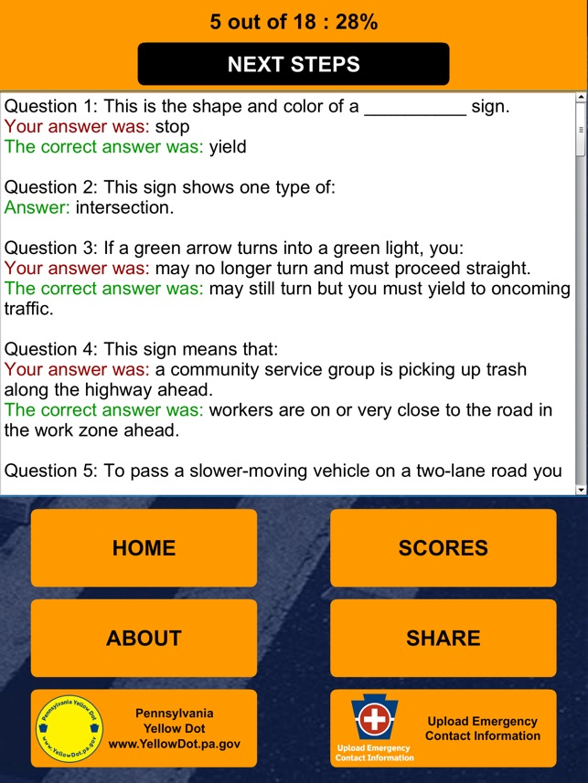 PA Driver's Practice Test on the App Store