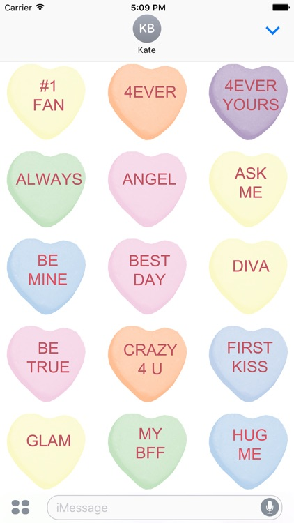 Candy Hearts 1 Stickers