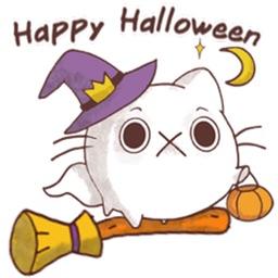 Halloween of Cute Cat Sticker