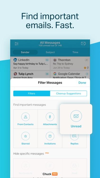 Chuck Email: Organized Mailbox screenshot-4