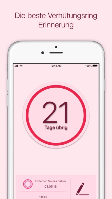 Screenshot for Nuva Ring Tracker Plus in Germany App Store