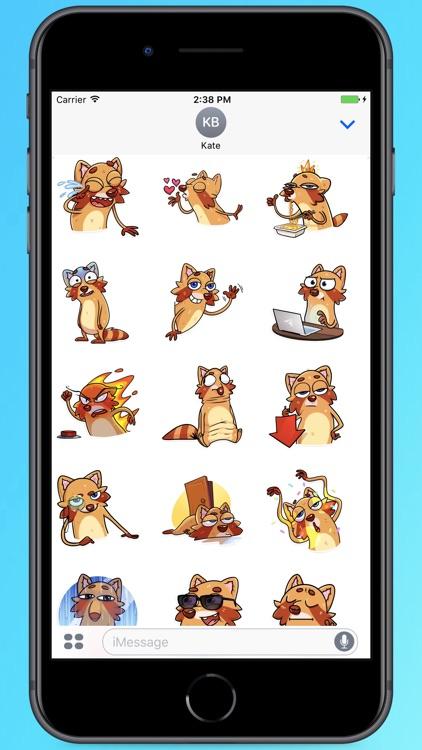 Cool Mr.Raccoon Stickers