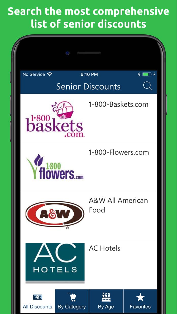Senior Discounts & Coupons Screenshot