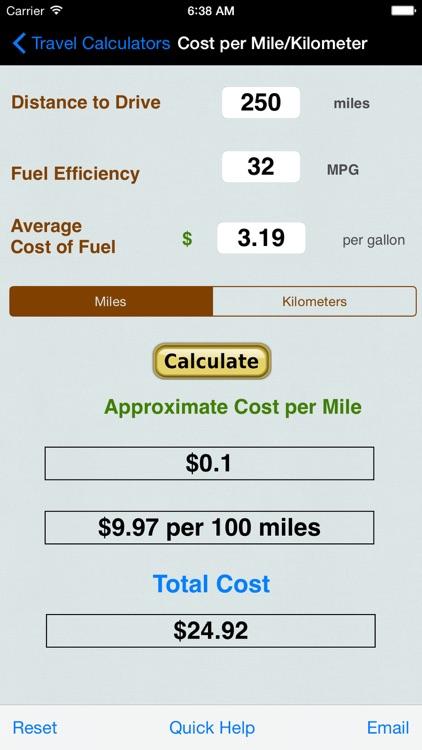 Automobile Trip Calculators screenshot-3