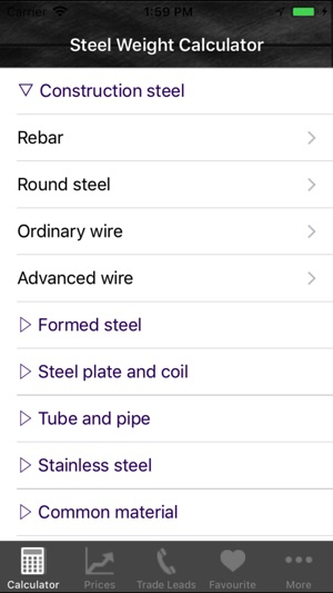 Steel weight calculator on the App Store