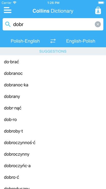 Collins Polish Dictionary screenshot-4