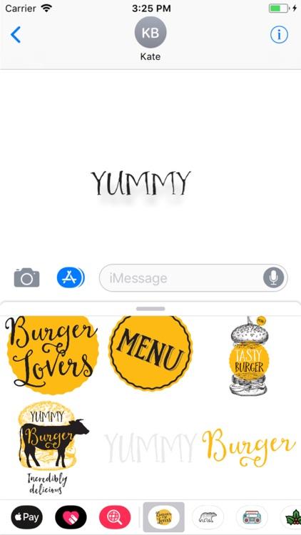 Burger Stickers screenshot-3