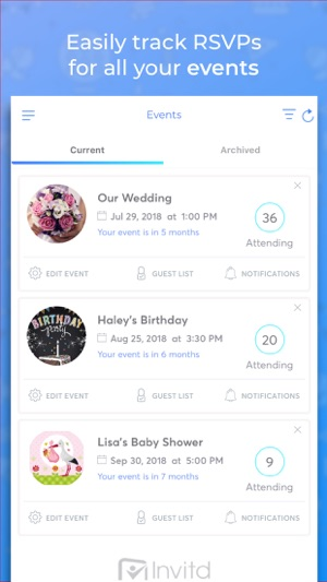 Invitd invitation maker rsvp on the app store stopboris Choice Image