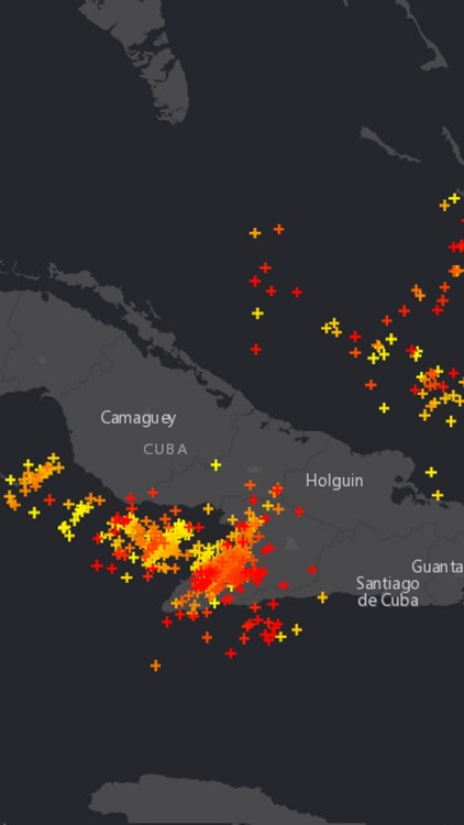 Global Lightning Strikes Map