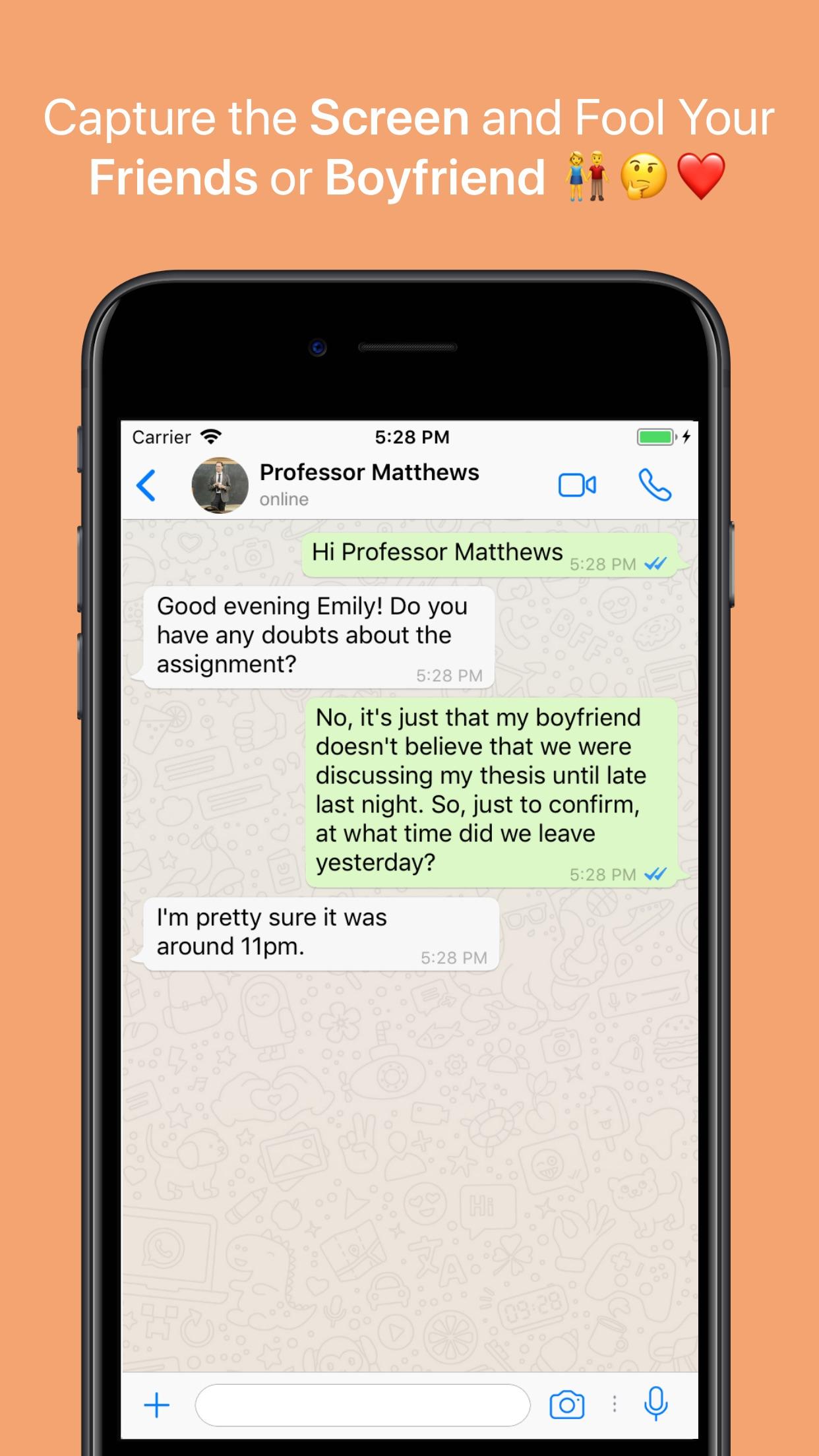 WhatsFake - Create Fake Chats Screenshot