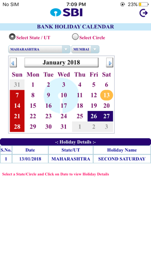 Sbi Bank Holiday Calendar On The App Store