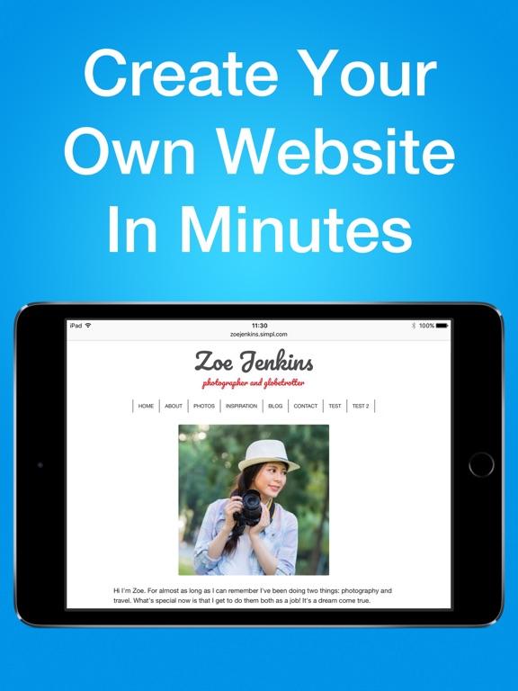 Simpl Website Builder - Easy website maker - Create web site design with blog, photo gallery, store screenshot