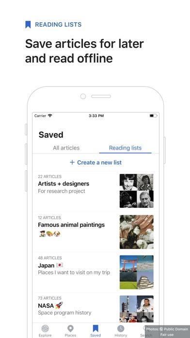 Wikipedia review screenshots