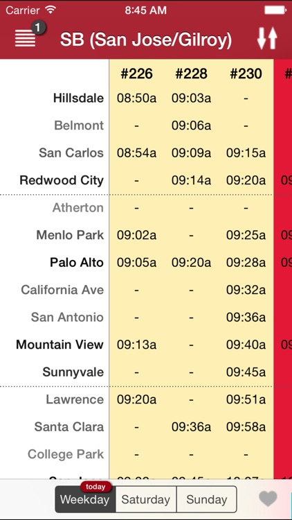CaltrainMe screenshot-2
