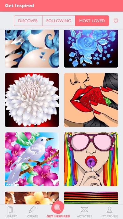 Colorfy: 大人のための塗り絵のスクリーンショット3