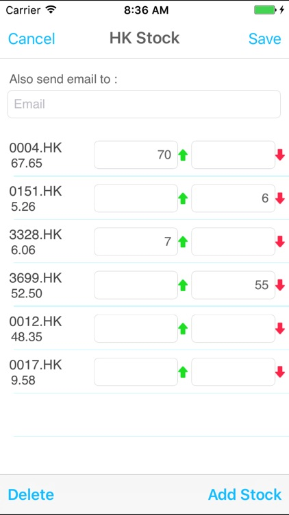 Hong Kong Stock Price Alert