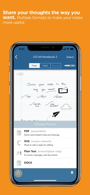 Livescribe+ Capture d'écran