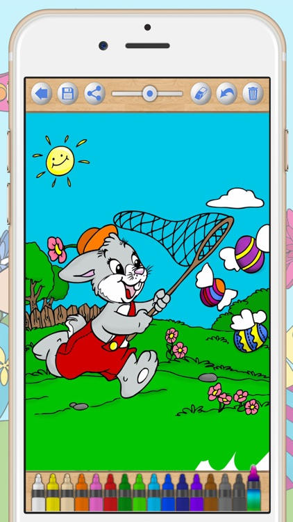 Easter Bunny Coloring Pages screenshot-3