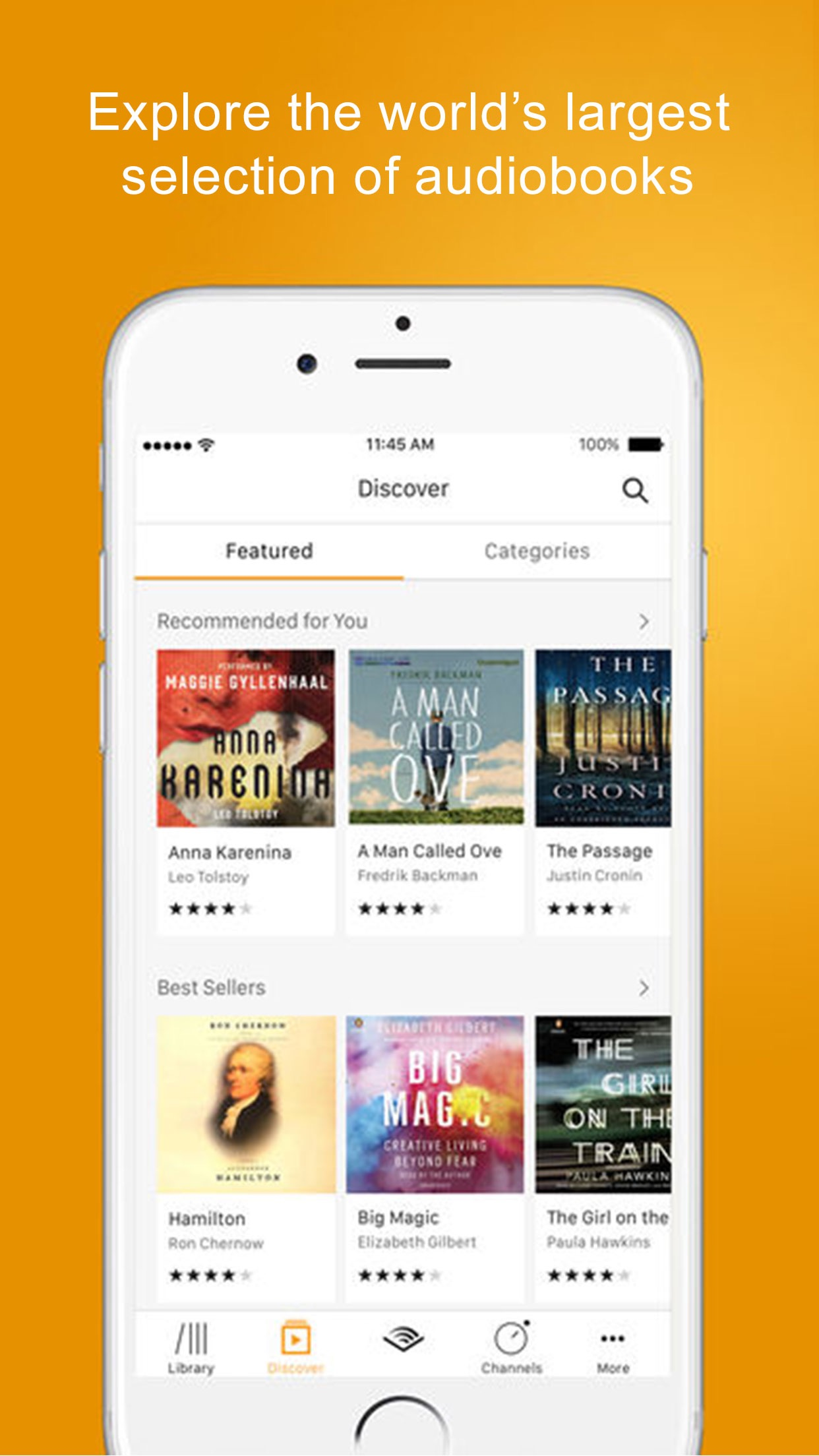 Audible audio books & podcasts Screenshot