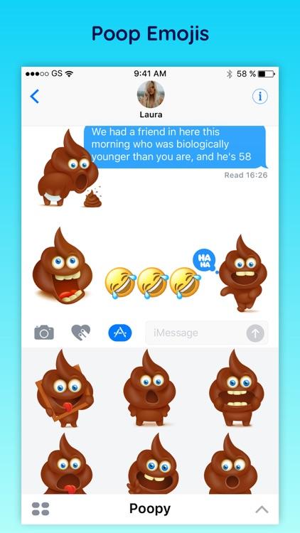 Poopy - Funny Poop Emoji Text Moji Chat Stickers