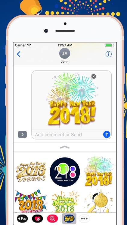 Welcome Happy New Year Sticker by Bee Lea Teo