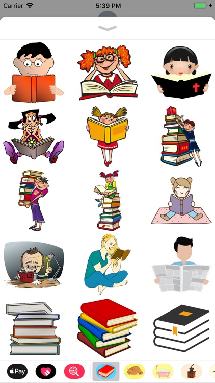 Read A Book Stickers