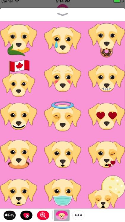 Cream Labrador Emoji screenshot-3