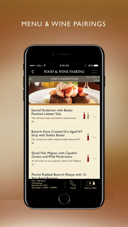 The Capital Grille Concierge screenshot-2