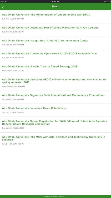 Abu Dhabi University screenshot-5