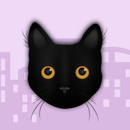 Black Cat in the City Stickers