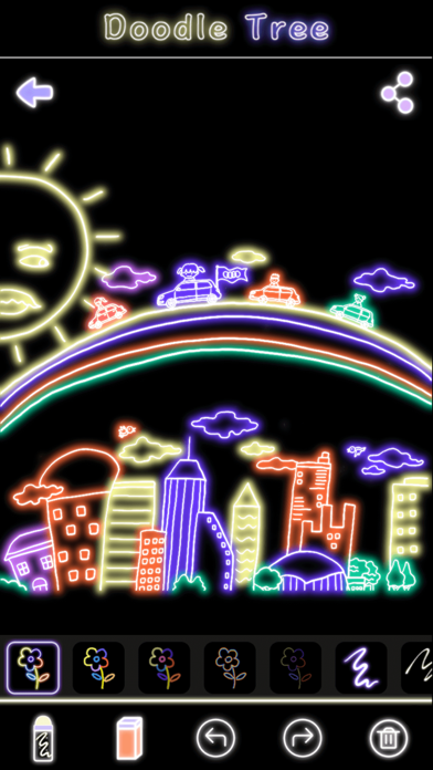 荧光涂鸦树